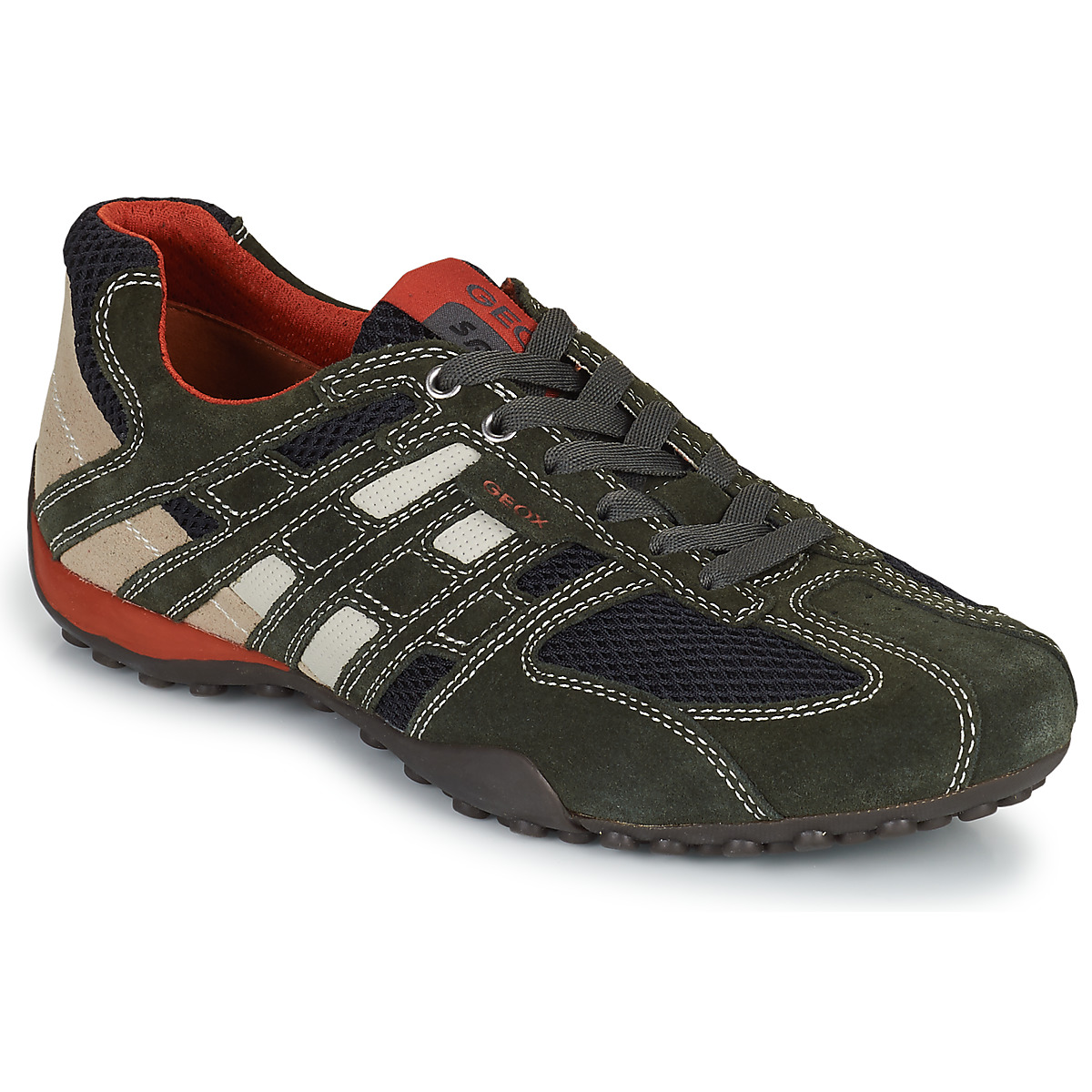 Geox SNAKE Grau - Kostenloser Versand bei Spartoode ! - Schuhe Sneaker Low Herren 79,99 €