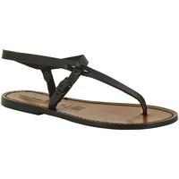 Schuhe Damen Sandalen / Sandaletten Gianluca - L'artigiano Del Cuoio 592 D MORO CUOIO Testa di Moro
