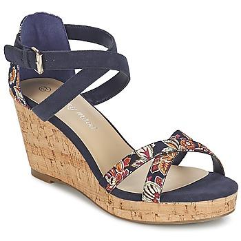 Schuhe Damen Sandalen / Sandaletten Moony Mood EMARLENE Marine