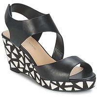 Schuhe Damen Sandalen / Sandaletten Moony Mood EPALINE Schwarz