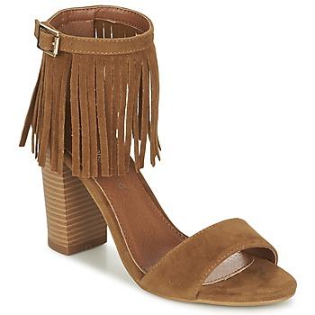 Schuhe Damen Sandalen / Sandaletten Moony Mood ERANDA Camel