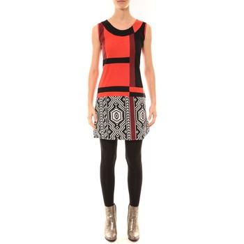 Kleidung Damen Kurze Kleider Bamboo's Fashion Robe BW648 rouge Rot