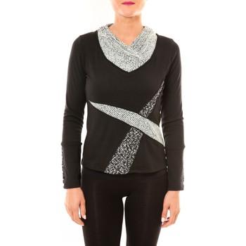 Kleidung Damen Langarmshirts Bamboo's Fashion Top BW632 noir Schwarz
