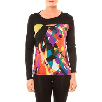 Kleidung Damen Langarmshirts Bamboo's Fashion Top BW623 noir Schwarz