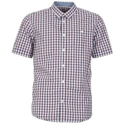 Kleidung Herren Kurzärmelige Hemden Tom Tailor CATHARINI Weiss / Rot / Schwarz