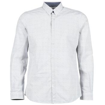 Kleidung Herren Langärmelige Hemden Tom Tailor MARCHALO Weiss / Marine