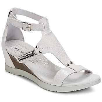 Schuhe Damen Sandalen / Sandaletten Regard RATANO Weiss