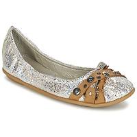 Schuhe Damen Ballerinas Regard SOLI Silbern / Beige