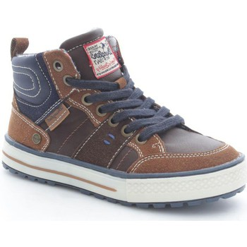 Schuhe Kinder Sneaker High Wrangler Junior WJ15216 Sneaker Baby Dark Brown Dark Brown