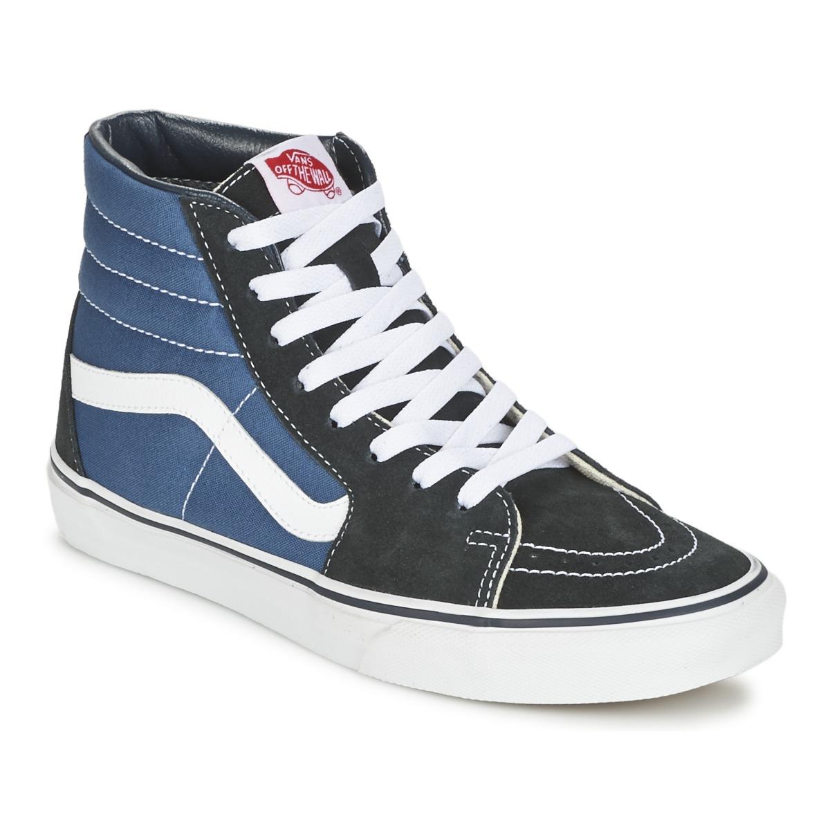 Vans SK8-HI Marine / Schwarz - Kostenloser Versand bei Spartoode ! - Schuhe Sneaker High  67,99 €