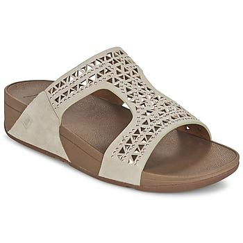 Schuhe Damen Pantoffel FitFlop CARMEL SLIDE Beige