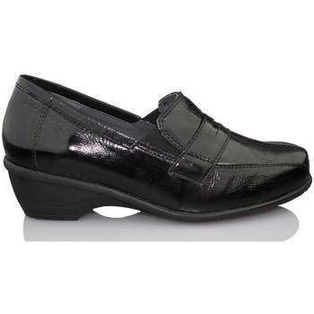 Schuhe Damen Slipper Dtorres GENT  MOCASIN THERAPEUTISCHE MODELL SCHWARZ