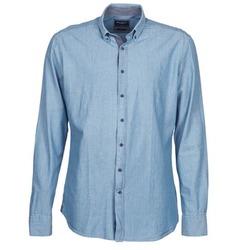 Kleidung Herren Langärmelige Hemden Hackett RILEY Blau