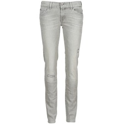 Kleidung Damen Slim Fit Jeans 7 for all Mankind ROXANNE DESTROYED Grau