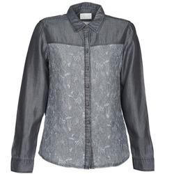Kleidung Damen Hemden Esprit Denim Blouse Grau