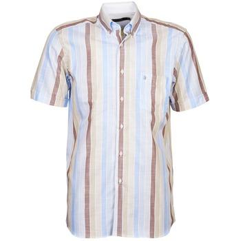 Kleidung Herren Kurzärmelige Hemden Pierre Cardin 539936240-130 Blau / Beige / Braun