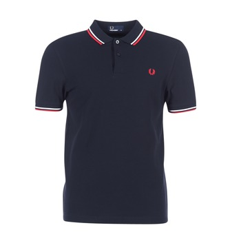 Kleidung Herren Polohemden Fred Perry SLIM FIT TWIN TIPPED Marine