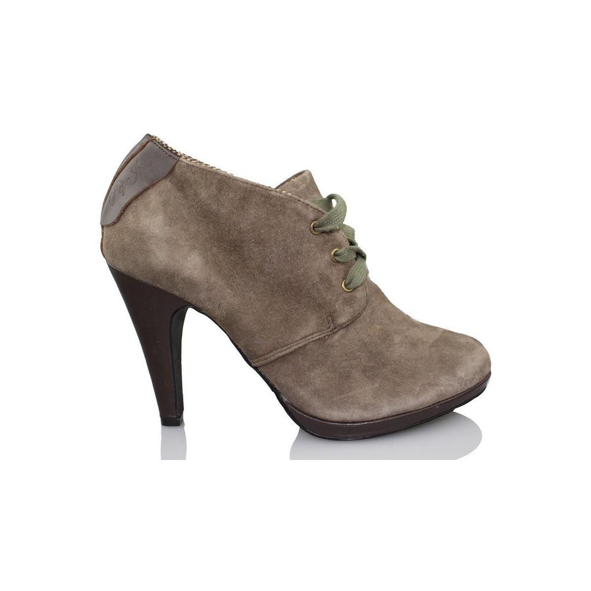 Pepe jeans Beute elegante Frau BRAUN - Schuhe Ankle Boots Damen 110,25 €