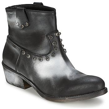 Stiefelletten / Boots Strategia  Schwarz / Silbern 350x350