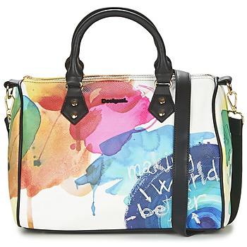 Taschen Damen Handtasche Desigual BOWLING STROKER Weiss / Multifarben