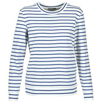 Kleidung Damen Sweatshirts Petit Bateau BEAM Weiss / Marine
