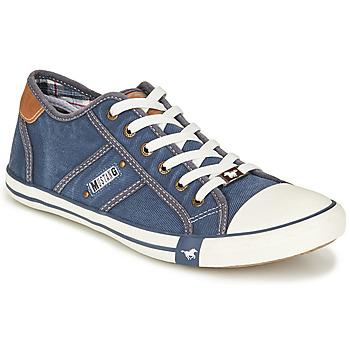 Schuhe Herren Sneaker Low Mustang TIRON Blau