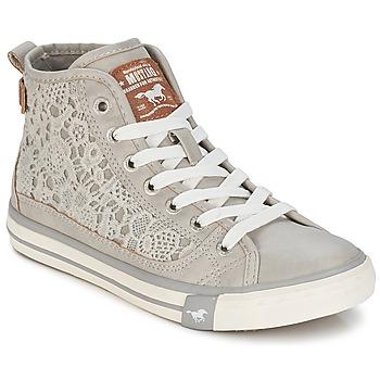 Schuhe Damen Sneaker High Mustang JOSUNE Grau