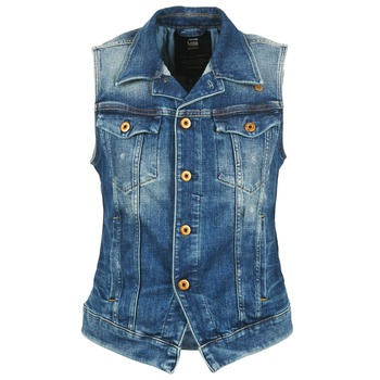Kleidung Damen Jeansjacken G-Star Raw 3302 JKT S/LESS WMN Blau