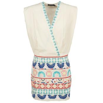 Kleidung Damen Kurze Kleider Antik Batik POLIN Weiss / Multicolor