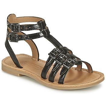 Schuhe Mädchen Sandalen / Sandaletten Shwik LAZAR BUCKLE Schwarz