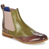 Schuhe Damen Boots Melvin & Hamilton AMÉLIE 5 Grün / Rose / Beige
