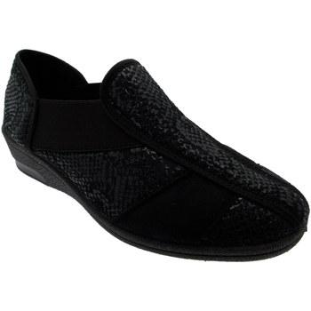 Schuhe Damen Hausschuhe Davema DAV7556NE nero