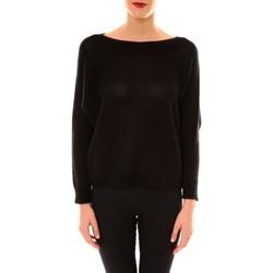Kleidung Damen Pullover De Fil En Aiguille Pull Galina noir Schwarz