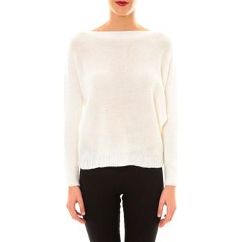Kleidung Damen Pullover De Fil En Aiguille Pull Galina blanc Weiss