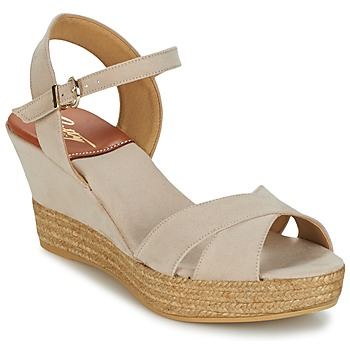 Schuhe Damen Sandalen / Sandaletten Betty London TECHNO Beige