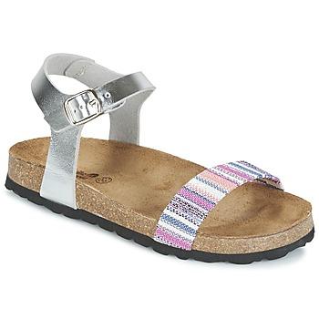 Schuhe Mädchen Sandalen / Sandaletten Citrouille et Compagnie IGUANA Silbern / Multifarben