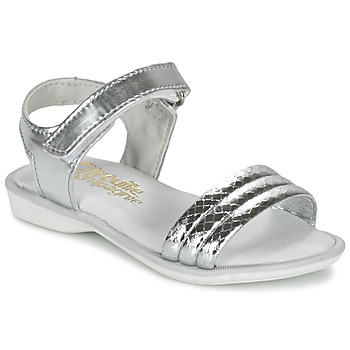 Schuhe Mädchen Sandalen / Sandaletten Citrouille et Compagnie GOSAGOLA Silbern