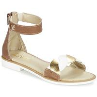 Schuhe Mädchen Sandalen / Sandaletten Citrouille et Compagnie MINIMAZA Camel / Goldfarben