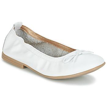 Schuhe Mädchen Ballerinas Citrouille et Compagnie JAPPALIE MOCA Weiss