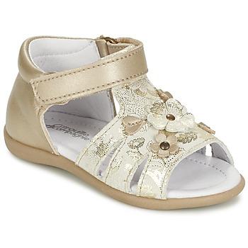 Schuhe Mädchen Sandalen / Sandaletten Citrouille et Compagnie PAQUETI Beige