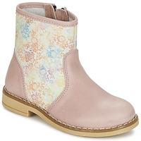 Schuhe Mädchen Boots Citrouille et Compagnie OUGAMO LIBERTY Rose / Blumenmuster