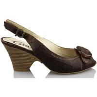 Schuhe Damen Sandalen / Sandaletten Giana Di Firenze GIANNA DI FIRENZE ETRUSCO BRAUN