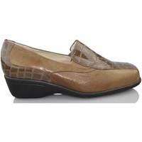 Schuhe Damen Slipper Sana Pies Fußgesundheit bequeme Lackleder loafers BRAUN