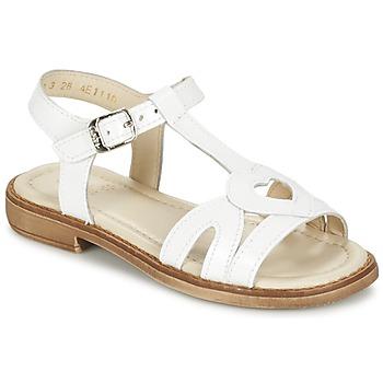 Schuhe Mädchen Sandalen / Sandaletten Aster TCHANIA Weiss