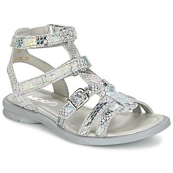 Schuhe Mädchen Sandalen / Sandaletten Mod'8 JUJU Silbern