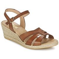 Schuhe Damen Sandalen / Sandaletten So Size ELIZA Braun