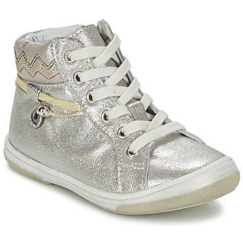 Schuhe Mädchen Sneaker High Catimini CALLUNA Beige / Silbern