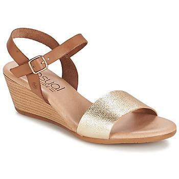 Schuhe Damen Sandalen / Sandaletten Casual Attitude GOLETTE Camel / Goldfarben