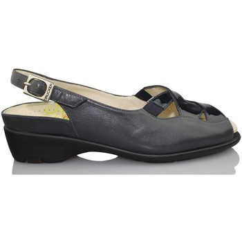 Schuhe Damen Sandalen / Sandaletten Drucker Calzapedic Orthopädie-Schuhfrau BLAU