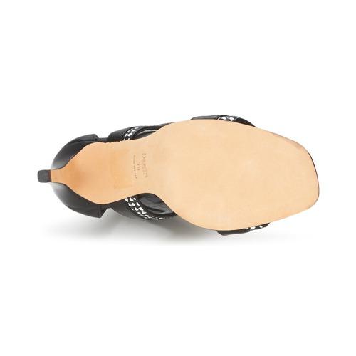 Hugo Boss Black PAMIRA Schwarz / Weiss  Schuhe 191,60 Sandalen / Sandaletten Damen 191,60 Schuhe b06388